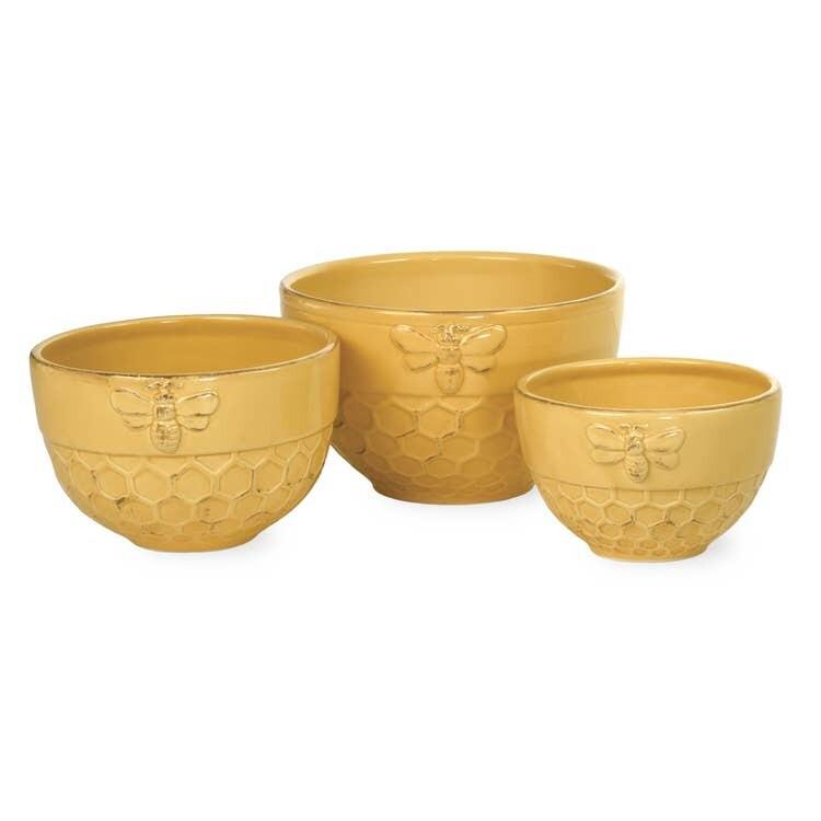 Honeycomb Honey Bee Nesting Bowls