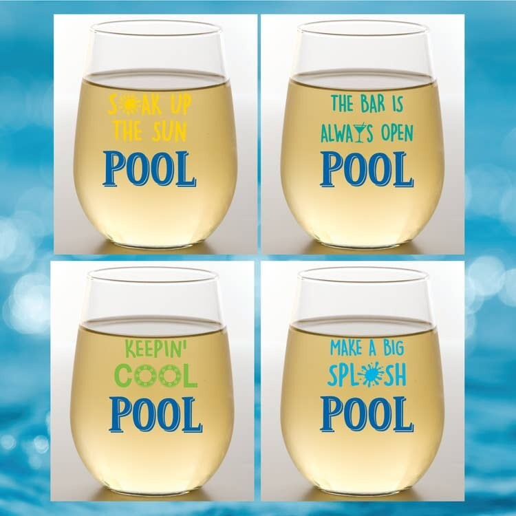 Poolside Shatterproof Wine Glasses