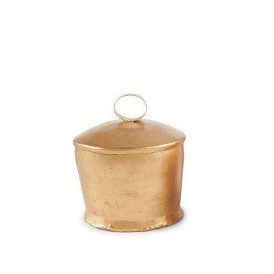 Brass Lavender Candle with Loop Handle Lid