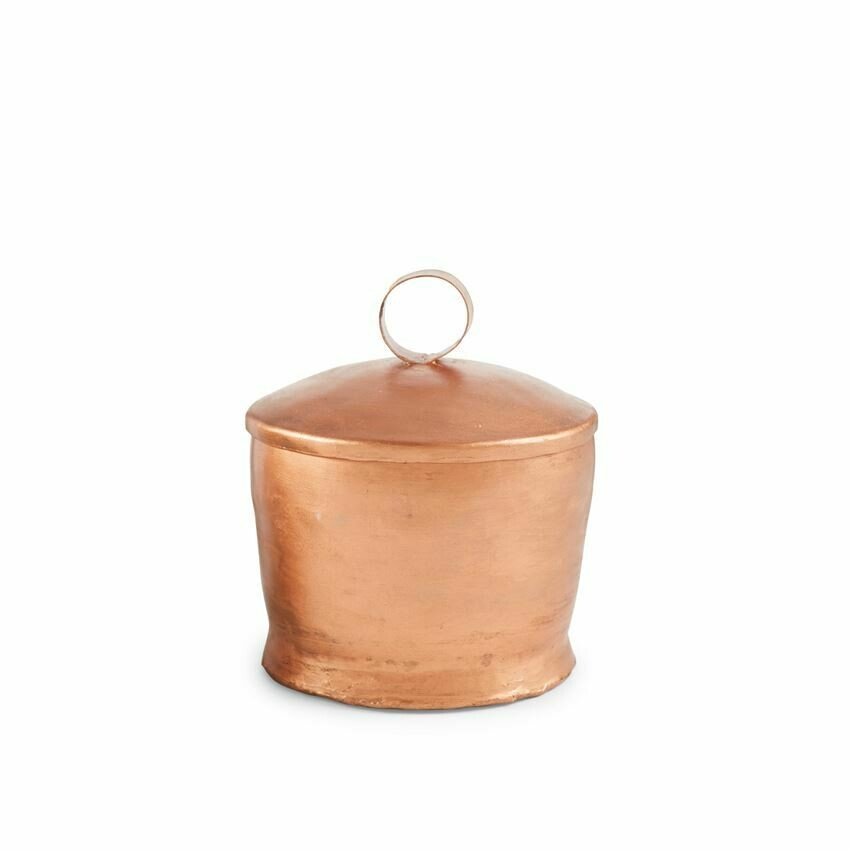 Copper Lavender Candle with Loop Handle Lid