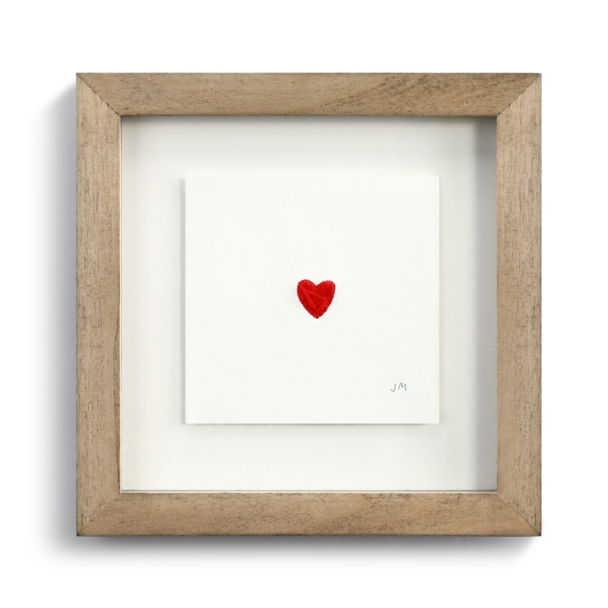 Stitched Heart Framed Art