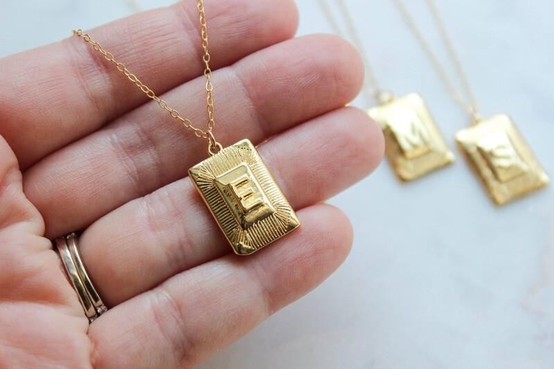 Gold Letter Pendant Necklace