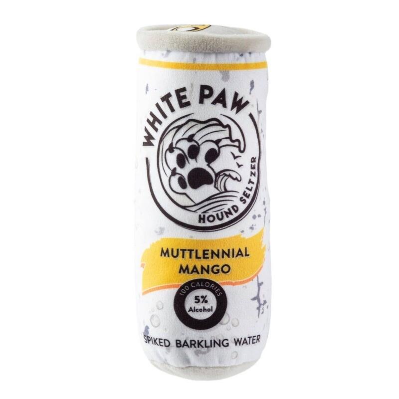 White Paw Muttlenial Mango Dog Toy