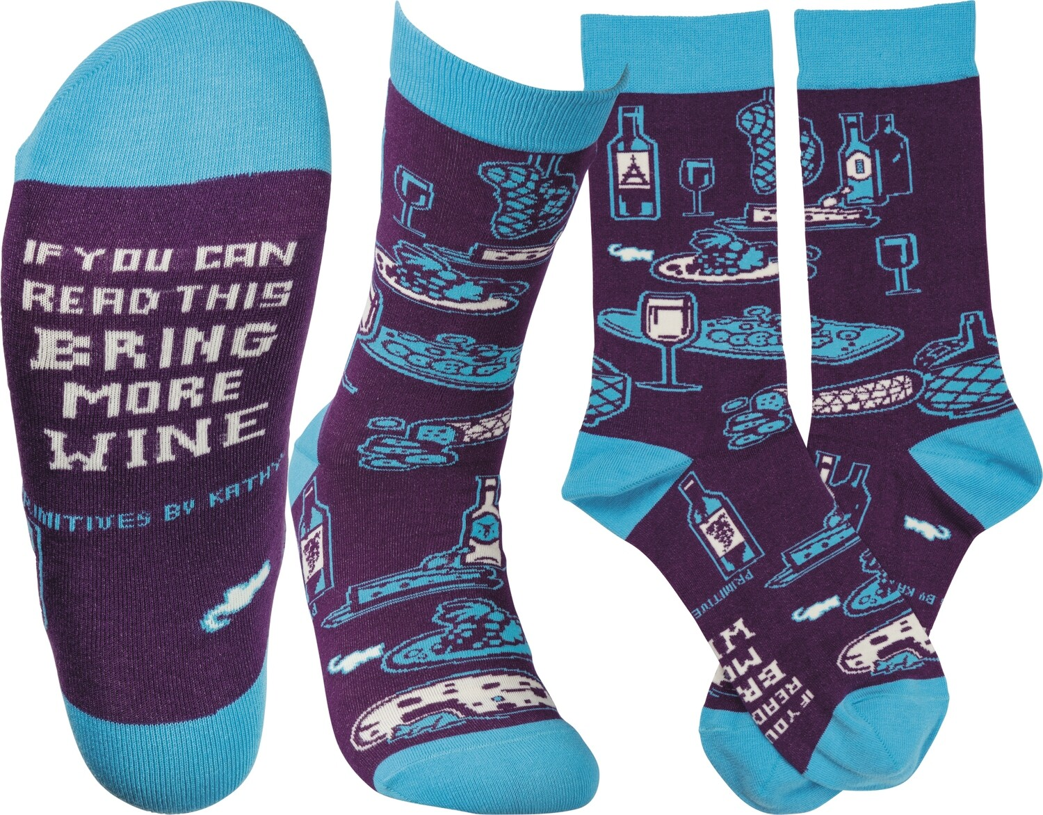If You Can Read This Bring More Wine Socks