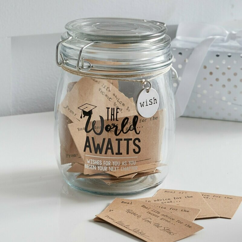 The World Awaits Graduate Message Jar