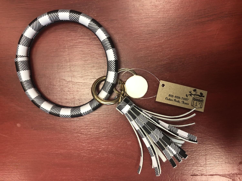 Arm Band Buffalo Plaid Key Chain