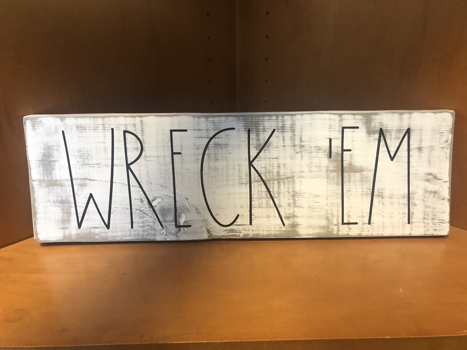 Texas Tech Wreck'Em Distressed Sign
