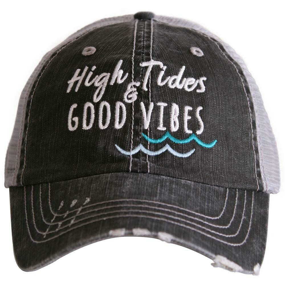 Trucker Cap High Tides Good Vibes