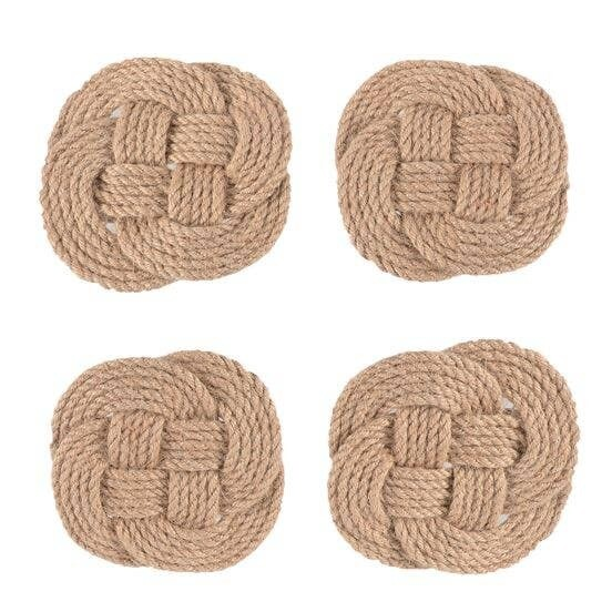Knotted Rope Coasters (Set of 4)