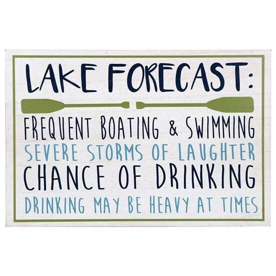 Lake Forecast Wall Sign