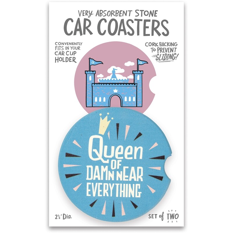 Car Coasters Queen Of Damn Near Everything Set of 2