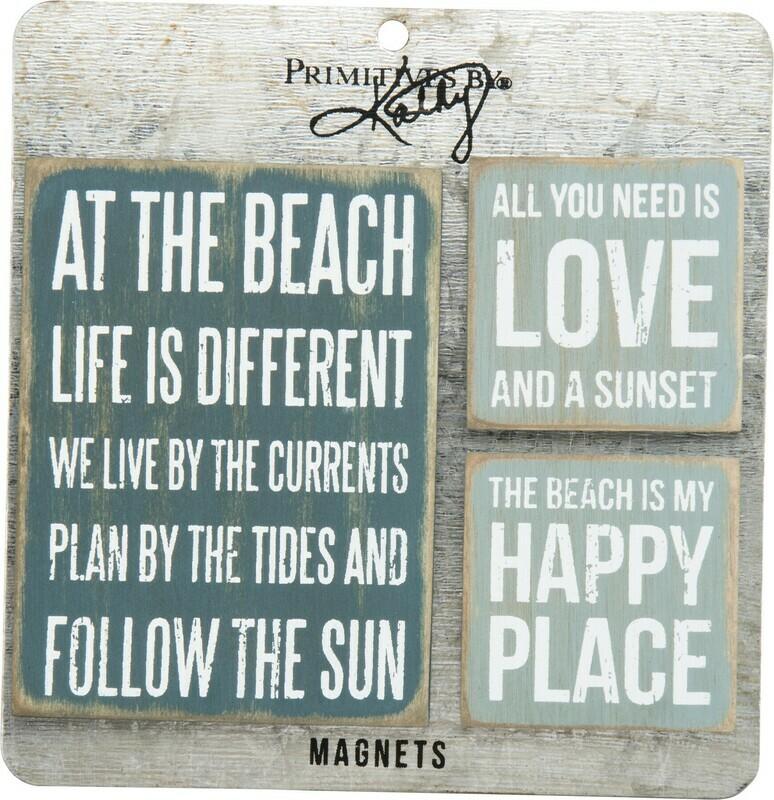 Memo Holder Magnet Set - Beach