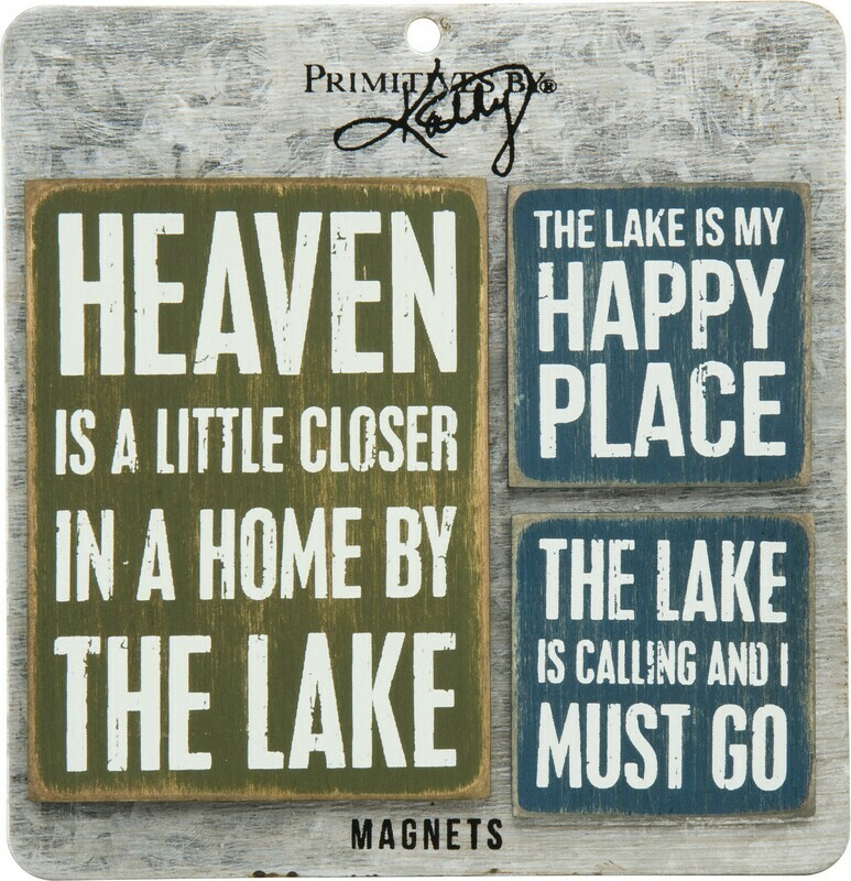 Memo Holder Magnet Set - Lake
