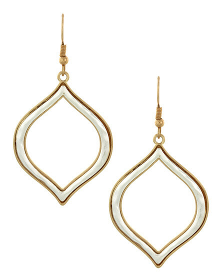 Rounded Point Hammered Silver & Gold Earrings