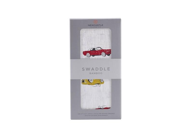 Vintage Muscle Cars Swaddle Blanket