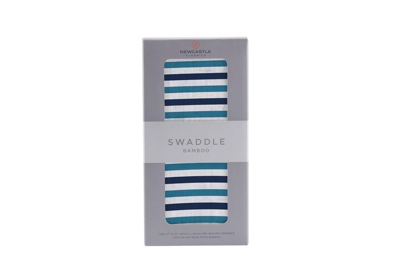 Blue & White Stripe Swaddle Blanket