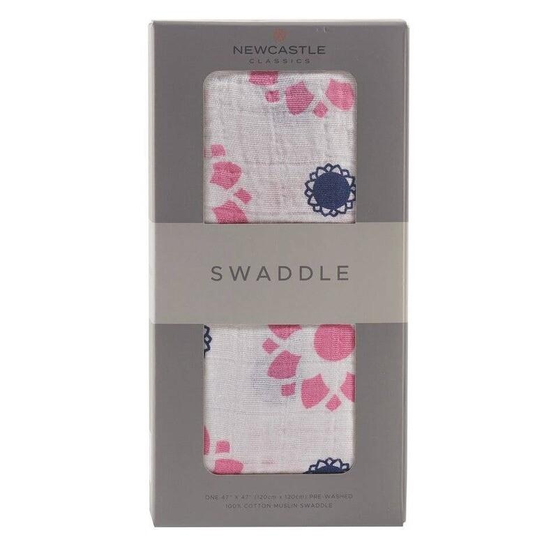 Primrose Indigo Swaddle Blanket