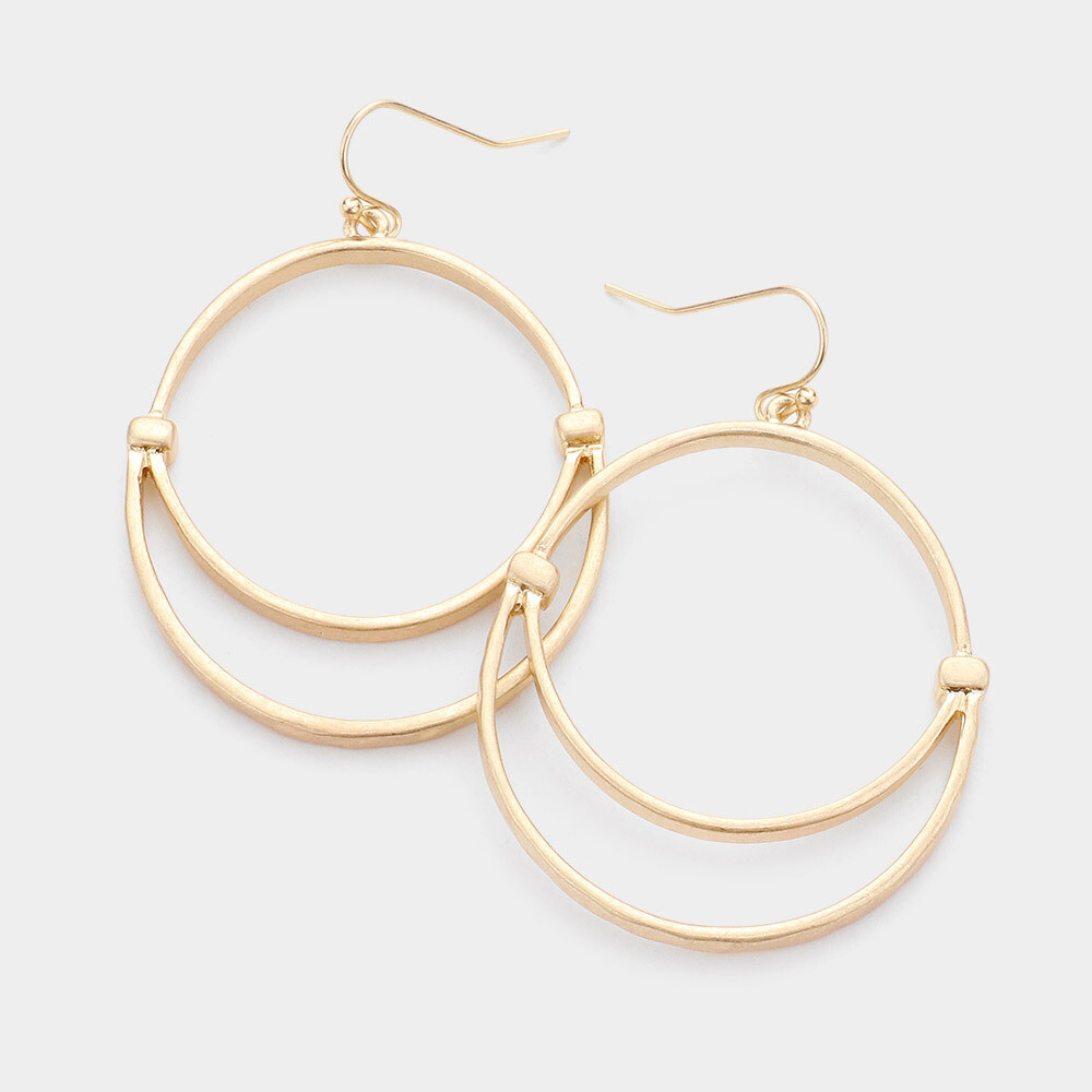 Double Hoop Gold Earrings