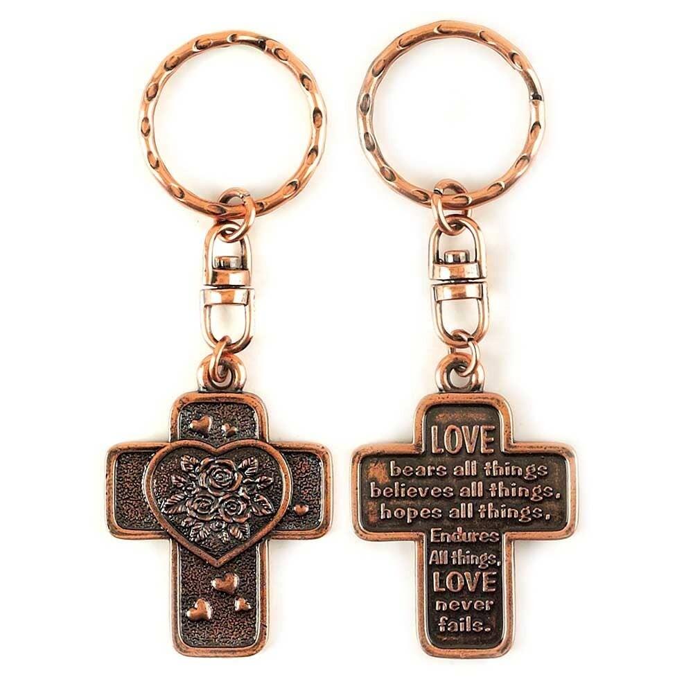 Cross Love Keyring