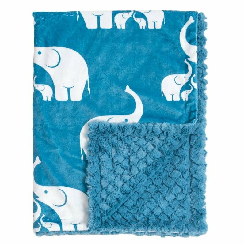 Blanket Love Coastal Blue Elephant Baby Blanket