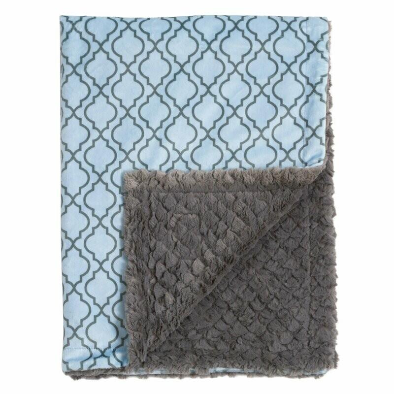 Blanket Love Blue Lattice Baby Blanket