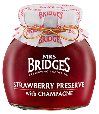 Mrs. Bridges Strawberry Preserve with Champagne