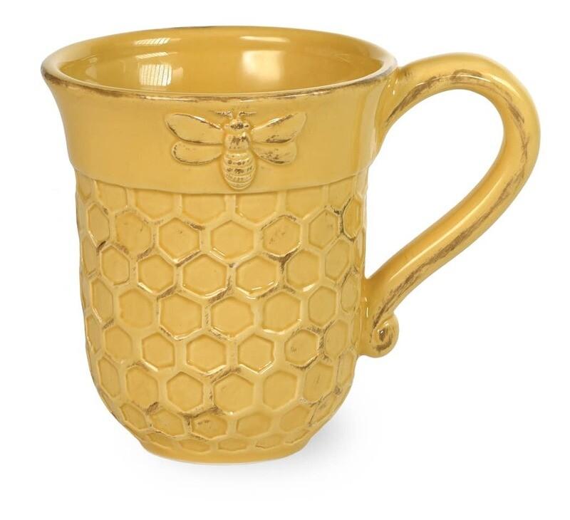 Honeycomb Honey Bee Mug