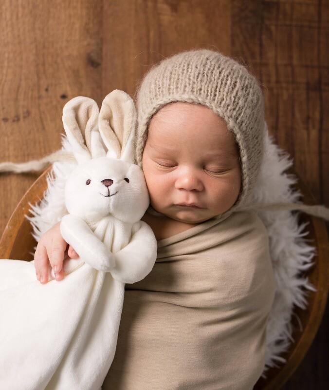 Bunny Lovey Travel Baby Blanket