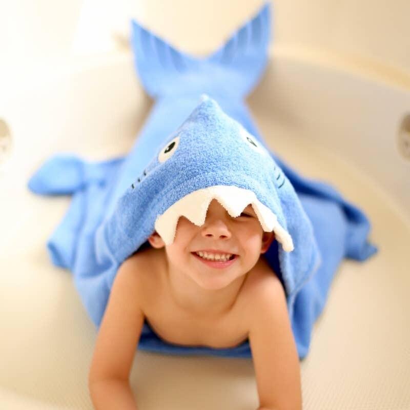 Shark Hooded Bath Towel
