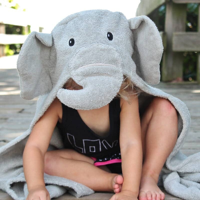 Elephant Hooded Baby Bath Towel
