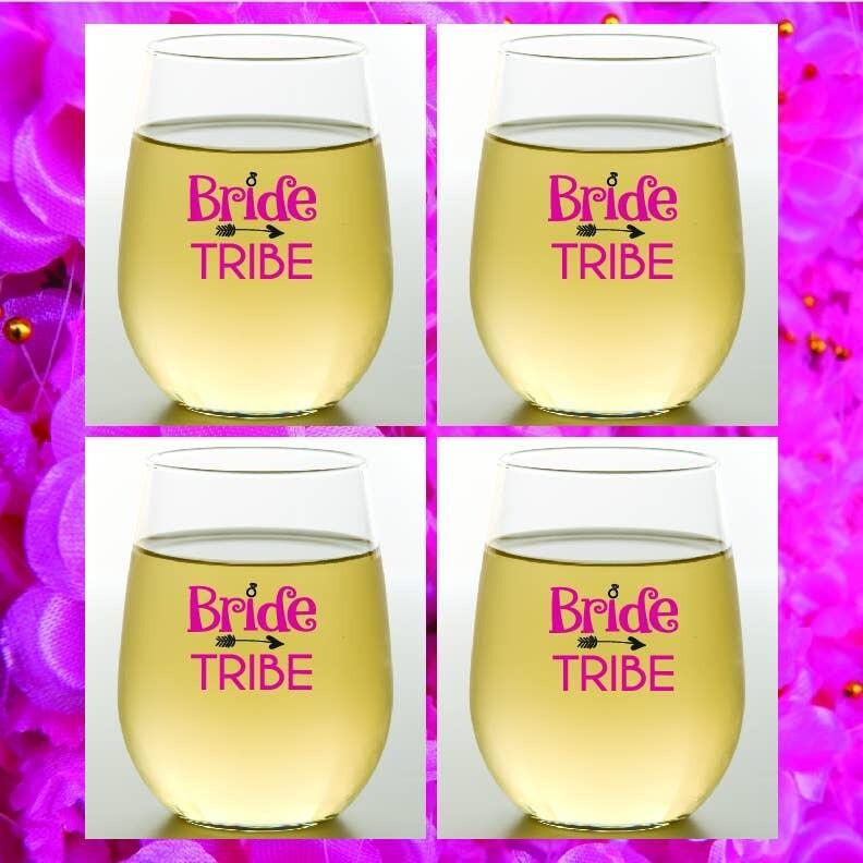 Bride Tribe Shatterproof Wine Glasses 4 pack