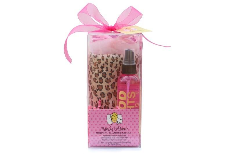 Satin Pillowcase & Lavender Chamomile Pillow Mist Gift Set