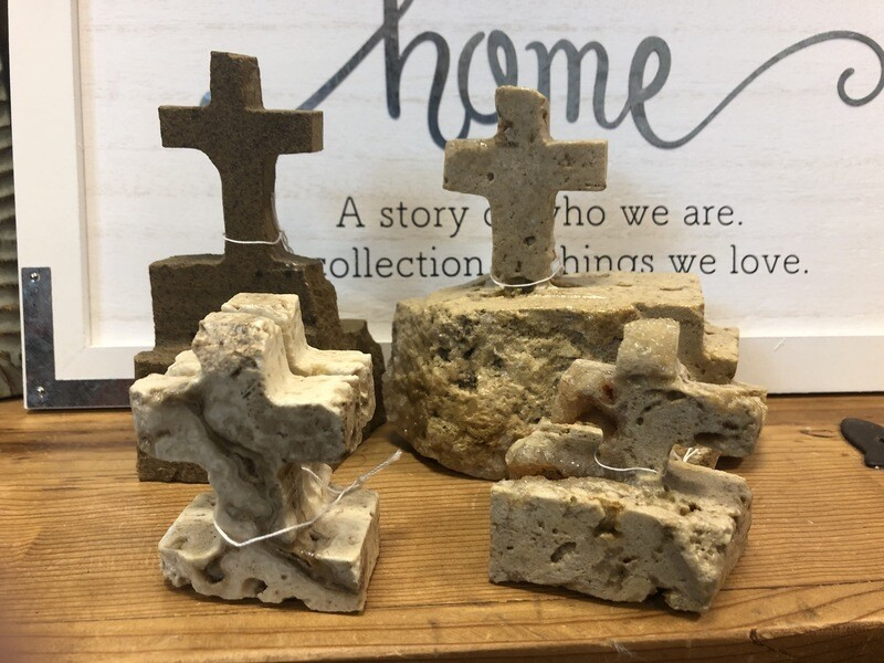 Hand-Carved Stone Cross