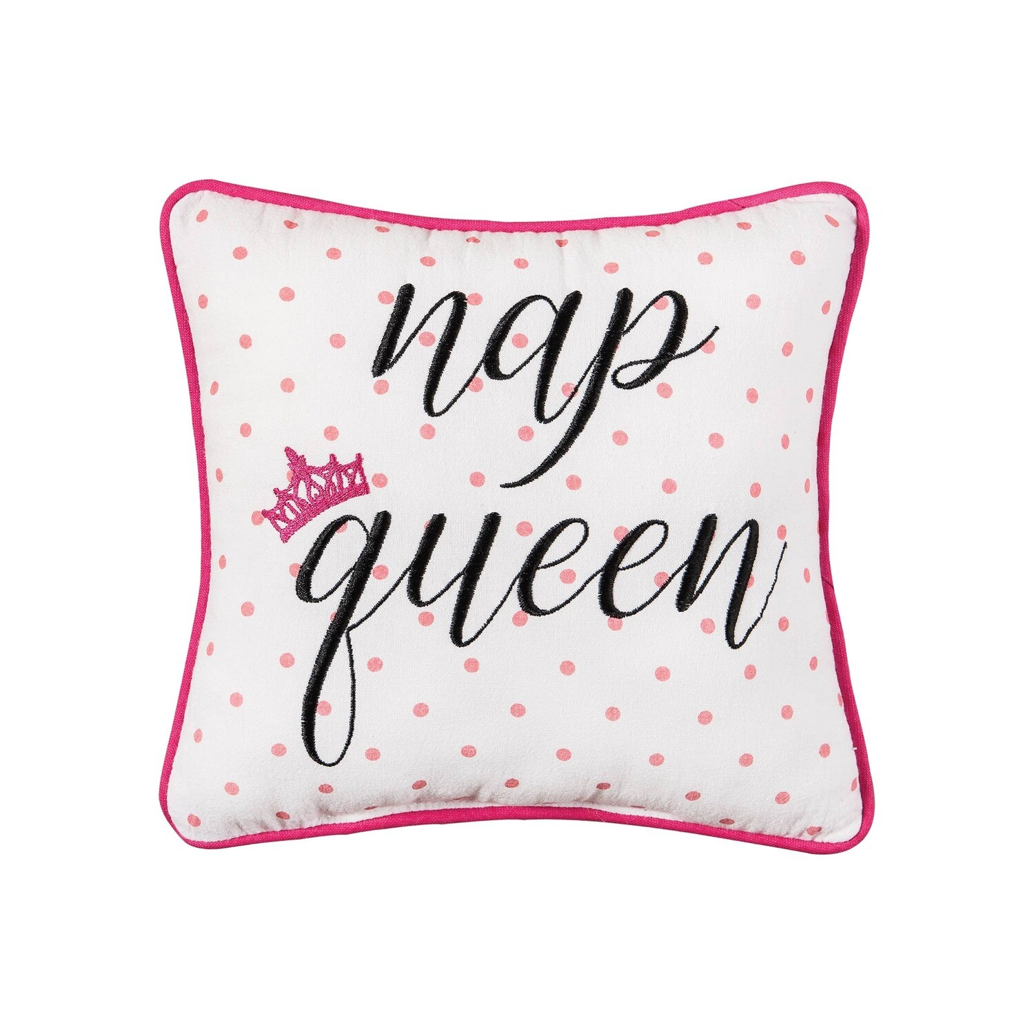 Nap Queen Embroidered Pillow