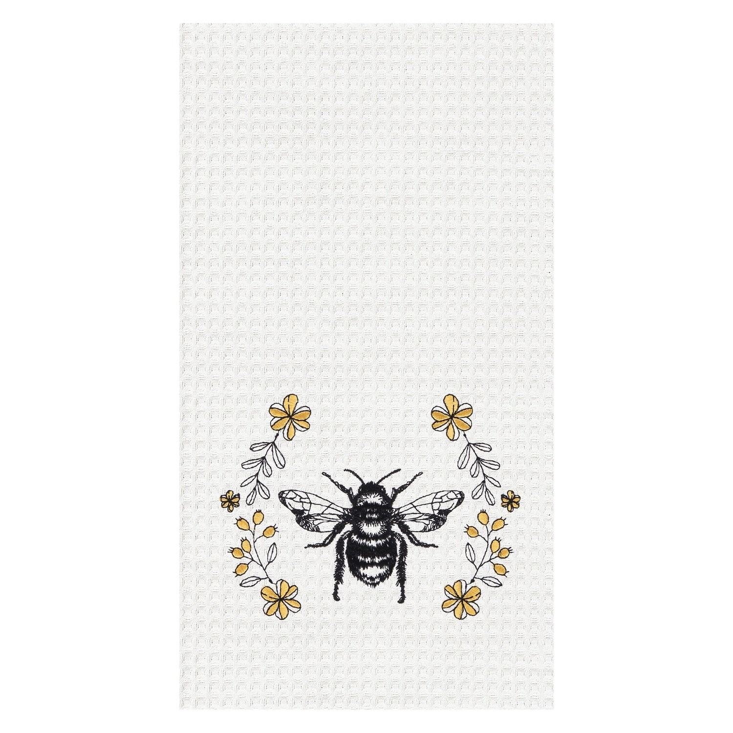 Honey Bee Embroidered Dish Towel