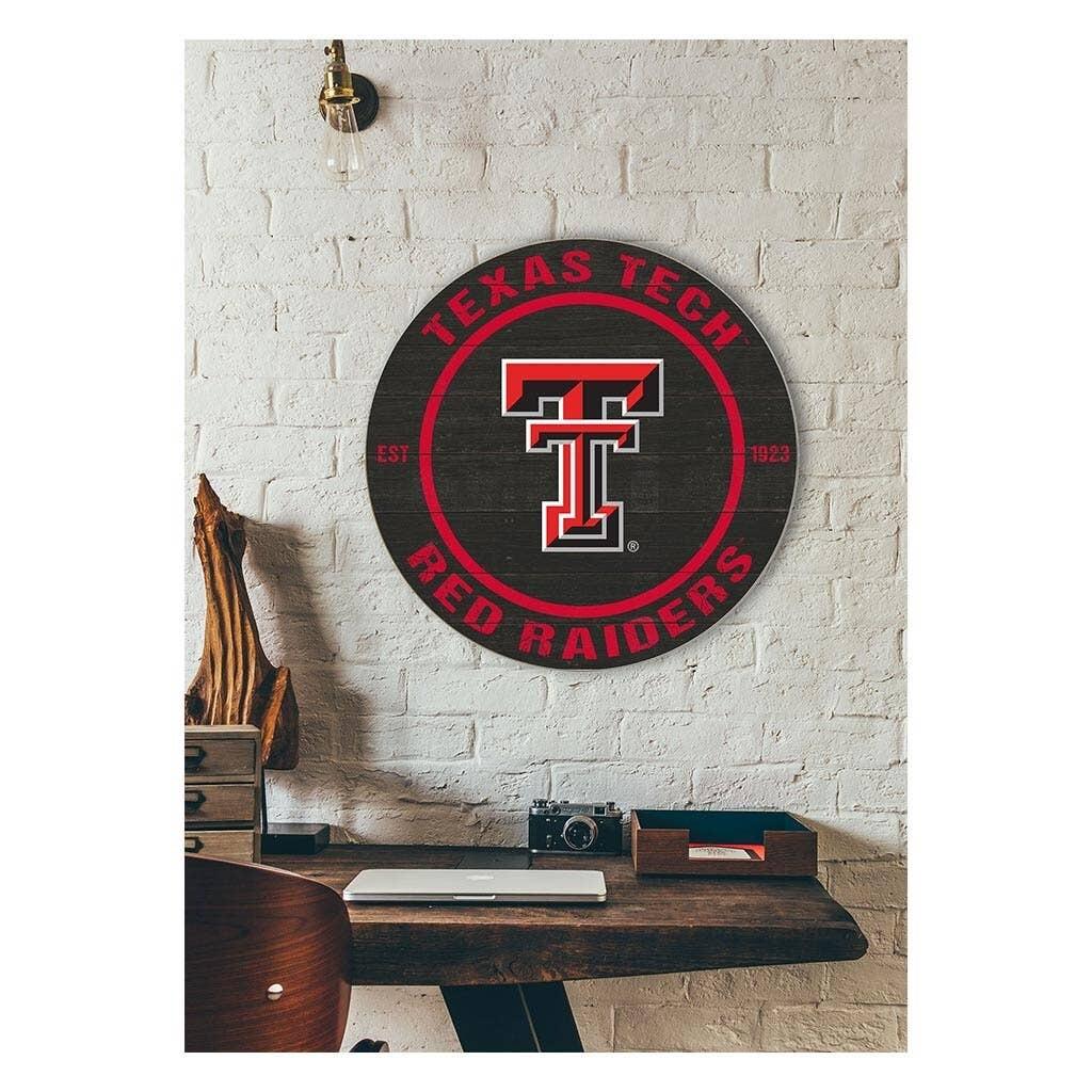 Texas Tech Round Sign