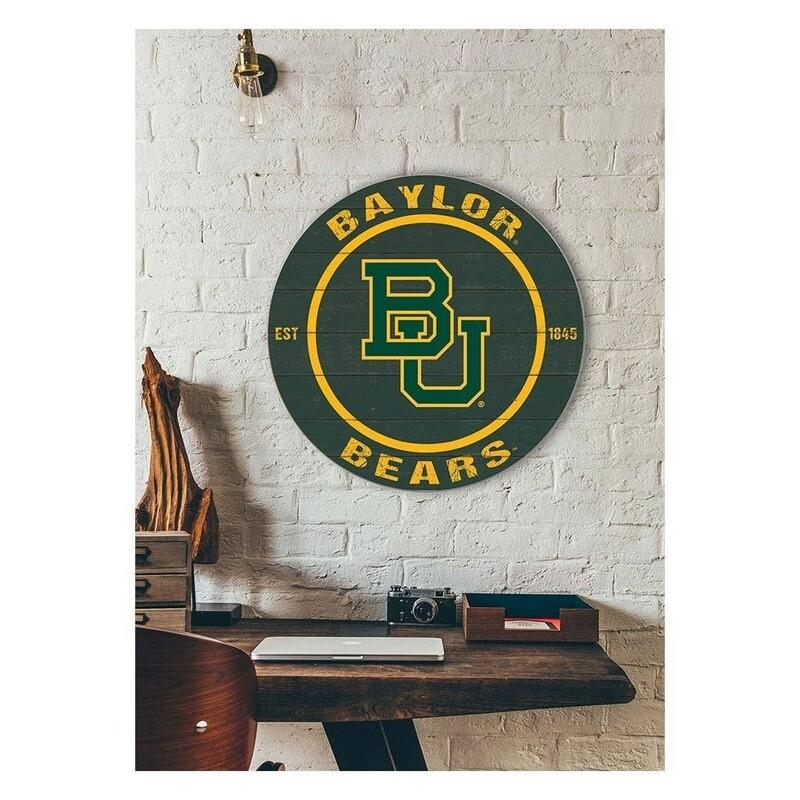 Baylor University Round Sign