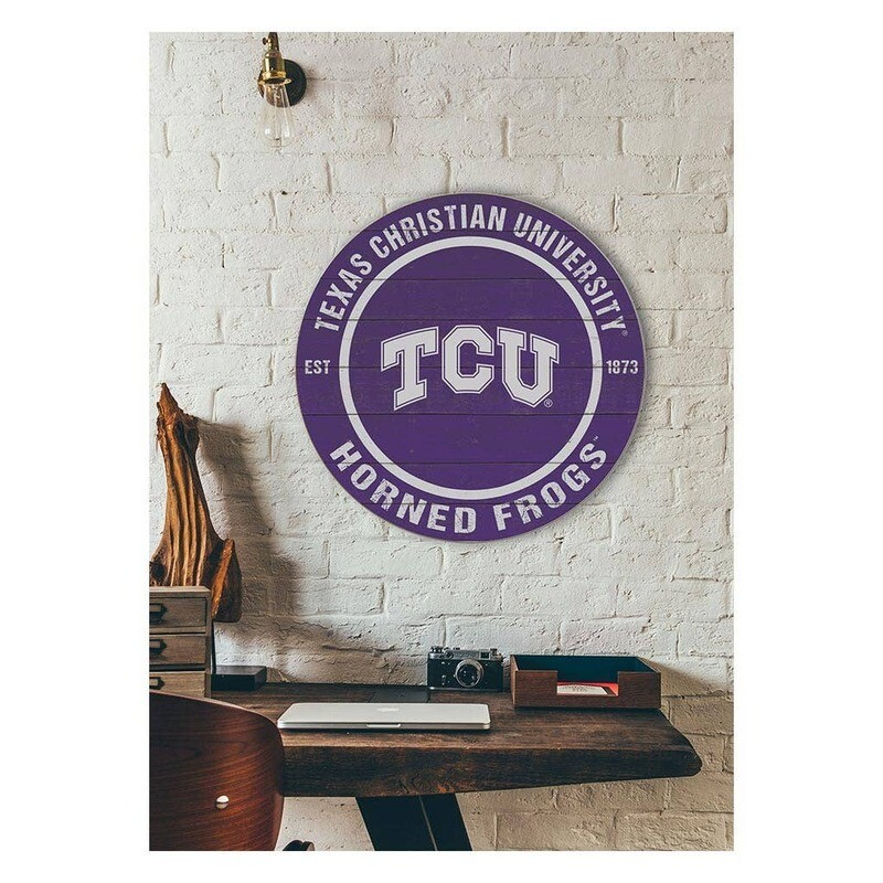 Texas Christian University Round Sign
