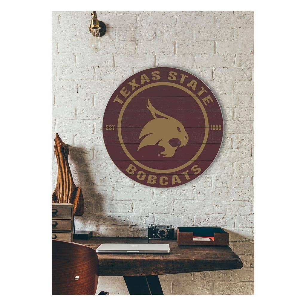 Texas State University Round Sign