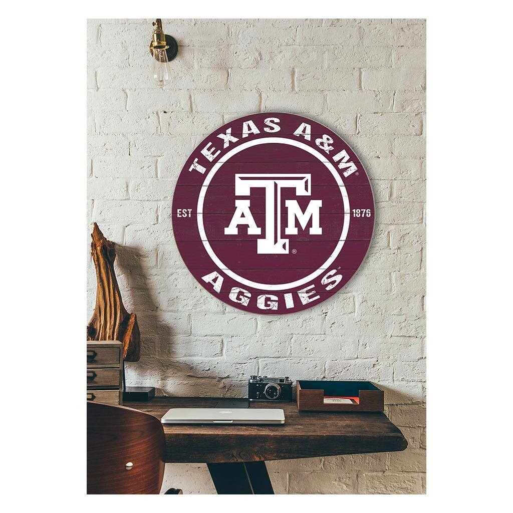 Texas A&M University Round Sign