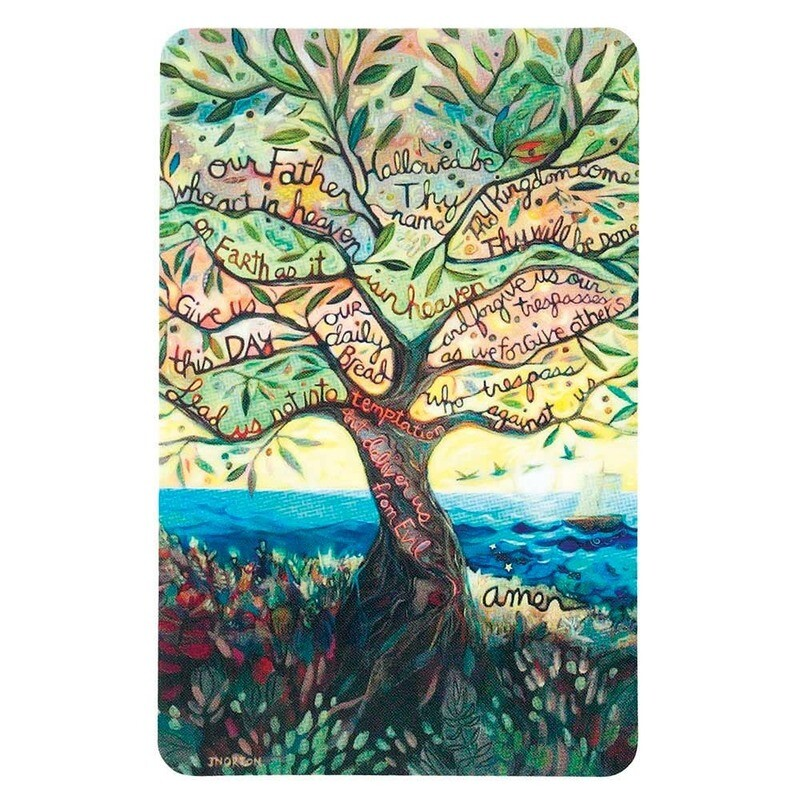 The Lord's Prayer Laminated Card