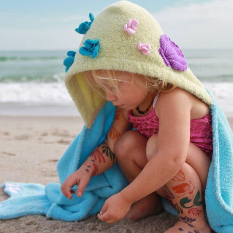 Mermaid Hooded Bath Towel