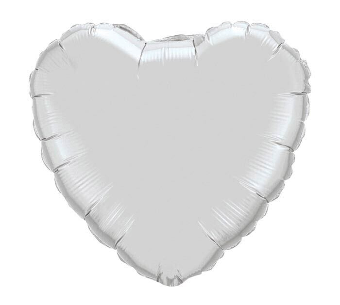 Solid White Heart Balloon