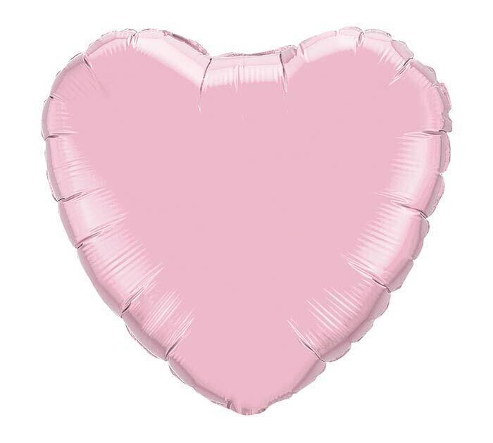 Solid Rose Light Pink Heart Balloon
