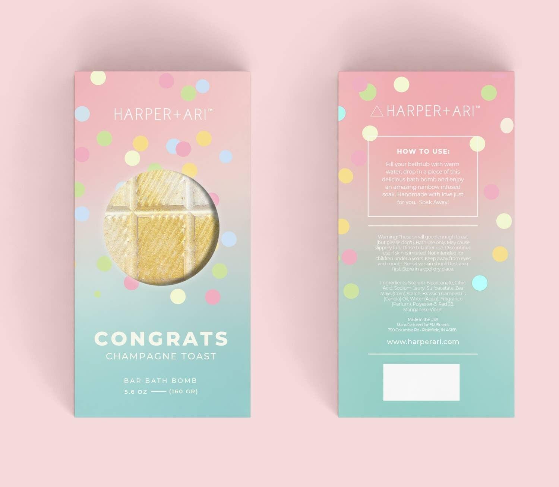 Congrats Champagne Fizz Bath Bomb Bar