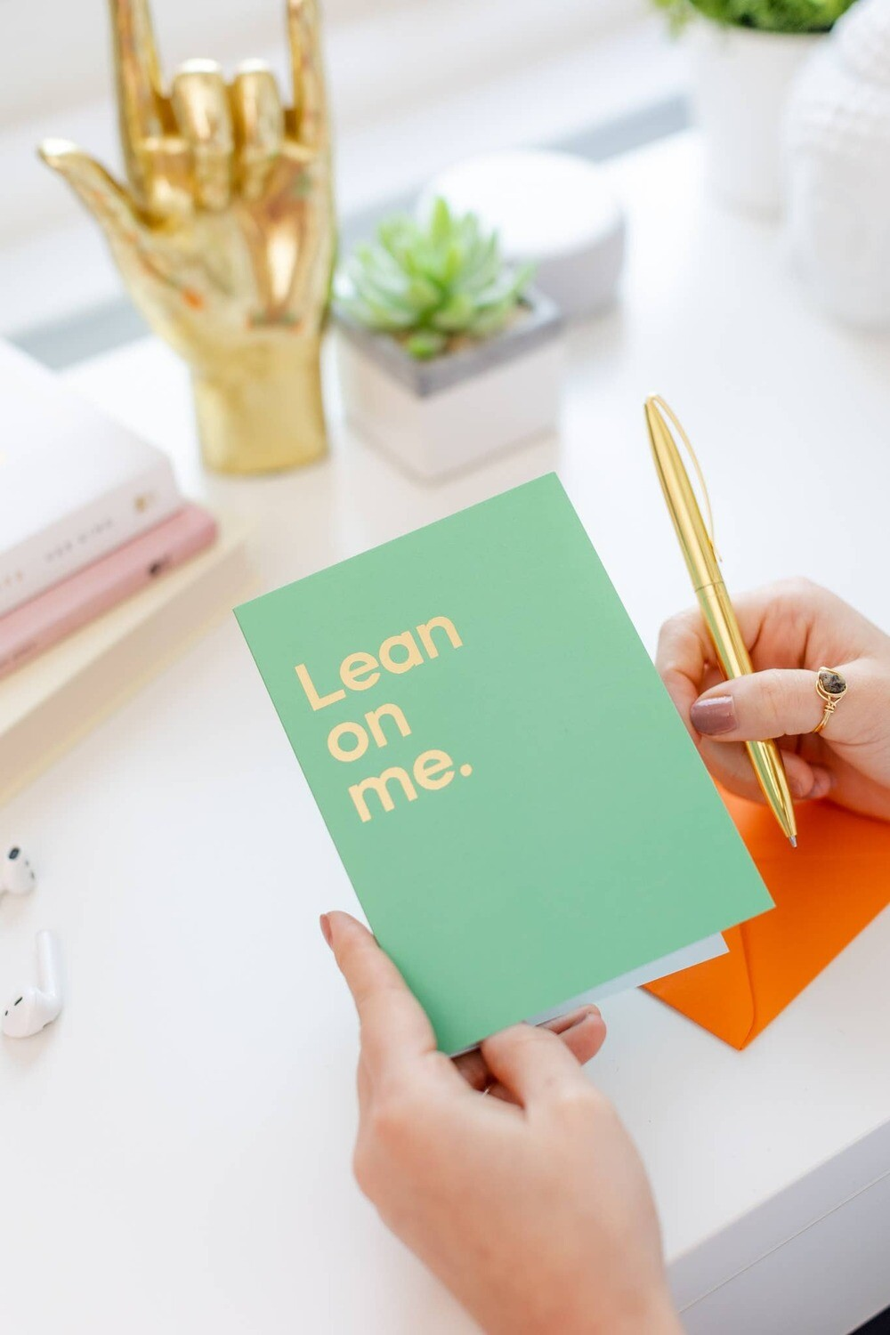 Lean On Me Musical Greeting Card