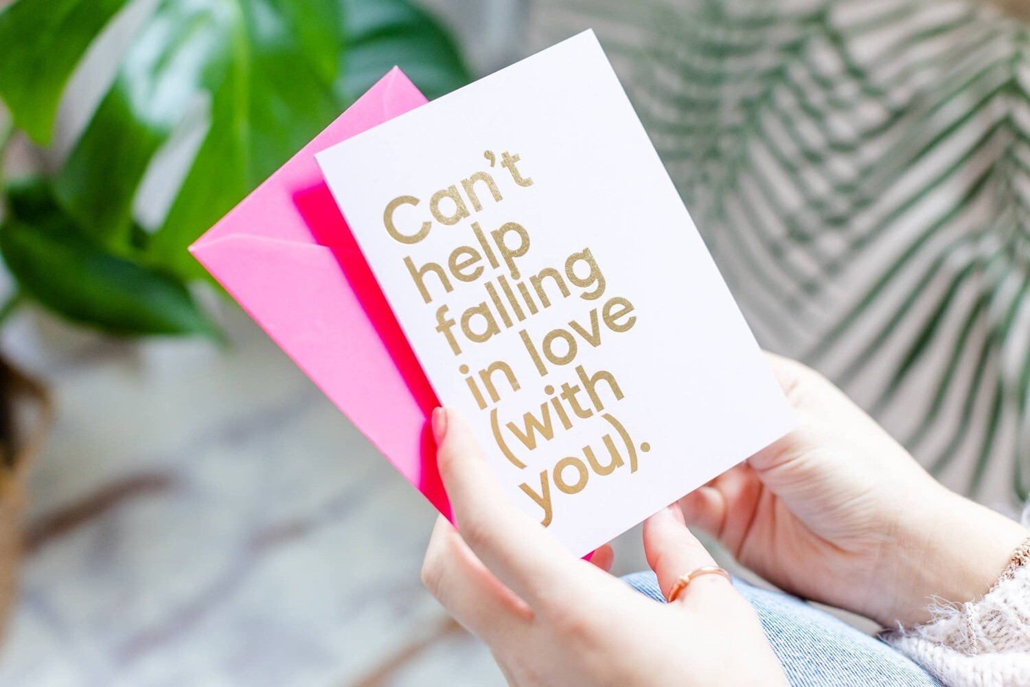 Can't Help Falling In Love Musical Greeting Card
