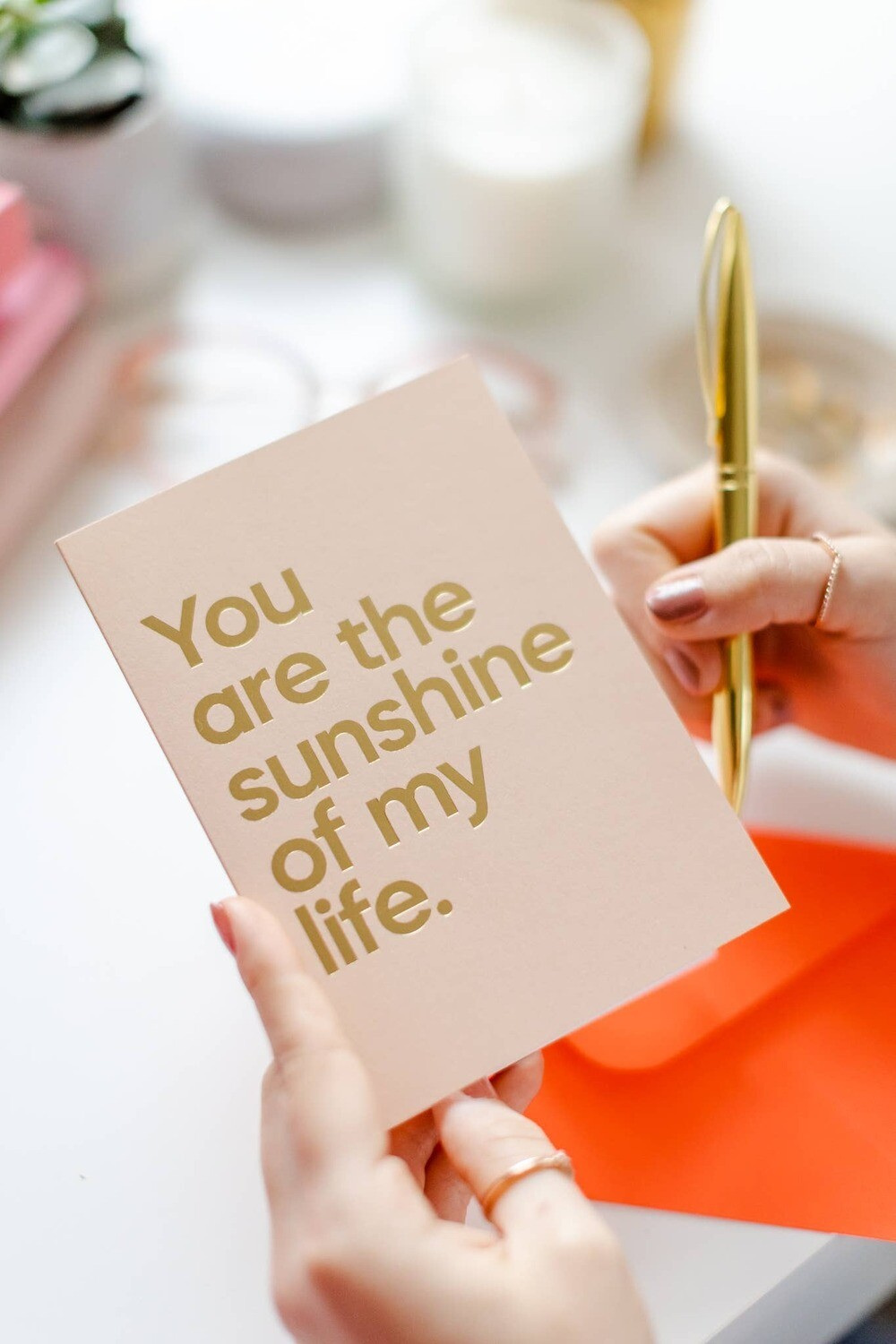 You Are The Sunshine Of My Life Musical Greeting Card