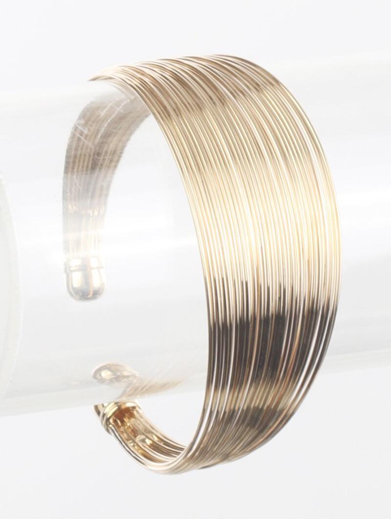 Multi Strand Wire Gold Cuff Bracelet