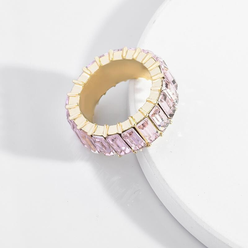 Light Amethyst Crystal Ring